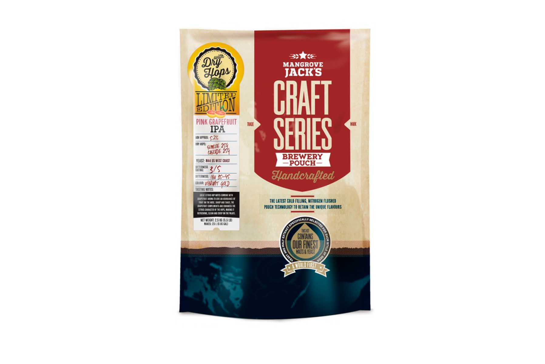 Купить Mangrove Jack's Craft Series Pink Grapefruit IPA 2,5 кг в Воронеже